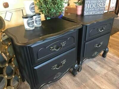 Black End Table Set