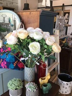 Faux Roses- various colours