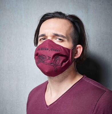 Stoffmaske auf Wienerisch - Farbe und Spruch wählbar