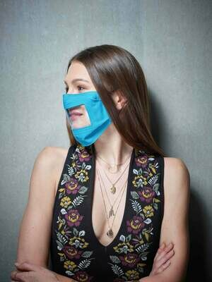 Maske mit Sichtfenster - Farbe wählbar