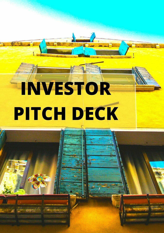Investor Business Pitch Deck Presentation