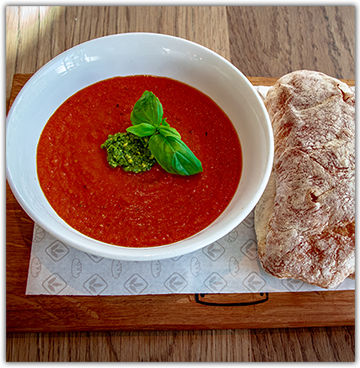 HOMEMADE ROASTED TOMATO SOUP For 2