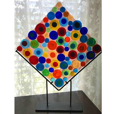 Glass Fusion Decorator Plate