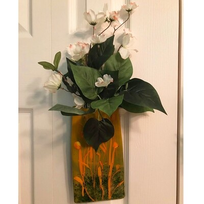 Glass Fusion Hanging Flower Planter