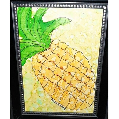 Alcohol Ink Pineapple