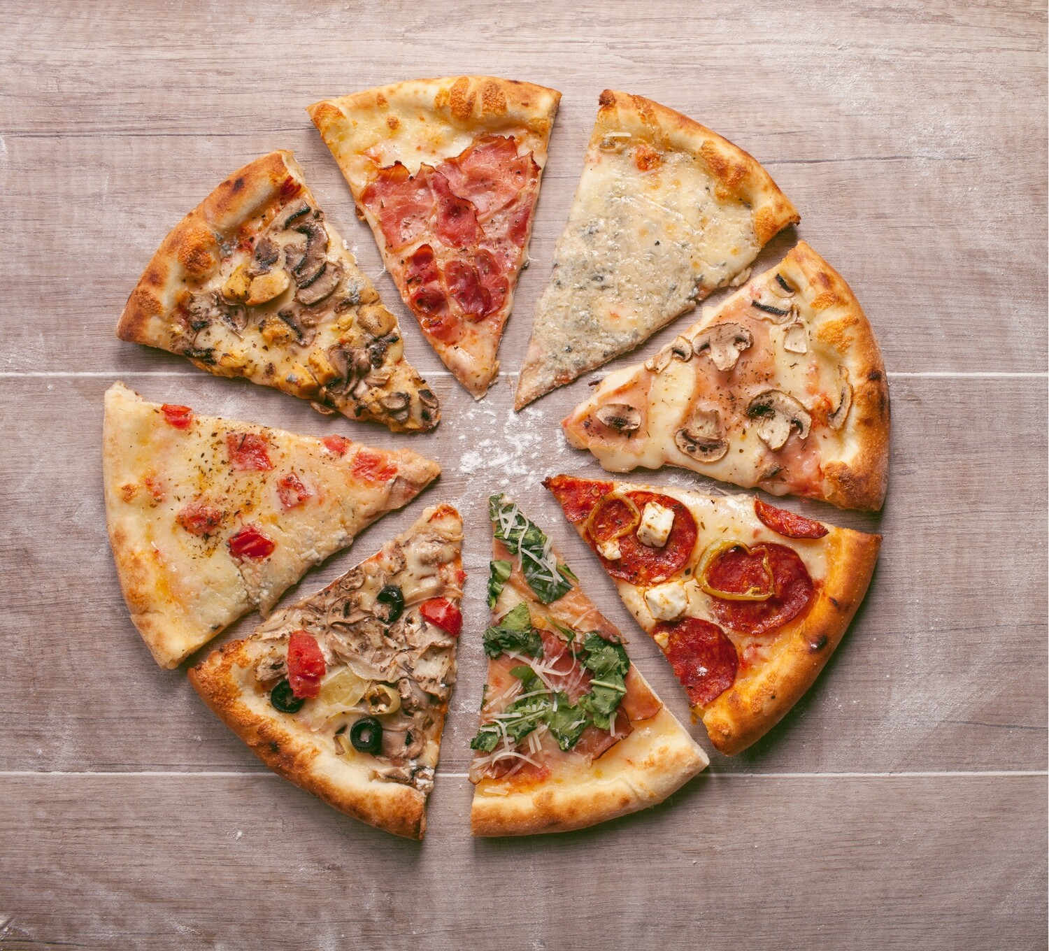 Various Pizza From