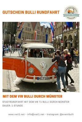 1 stündige Oldtimer Stadtrundfahrt – Im VW T1 Bulli durch Münster City