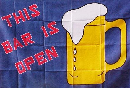3' x 5' Flag - BAR IS OPEN