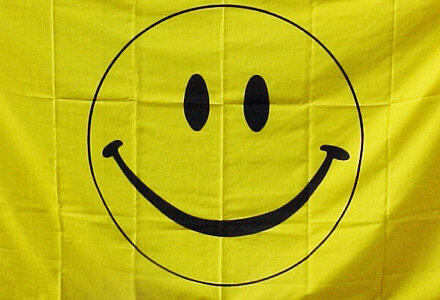 3' x 5' Flag - HAPPY FACE