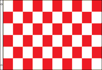 Checkered Flag - Red and White