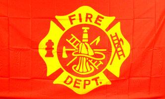 3' x 5' Flag - Fire Department
