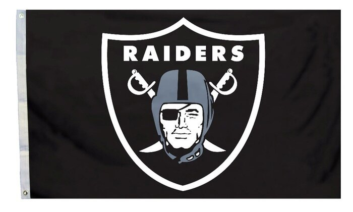 Oakland Raiders NFL Field Design 3'x5' Banner Flag