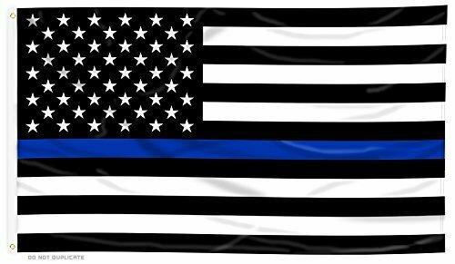 Thin Blue Line 3x5' Flag
