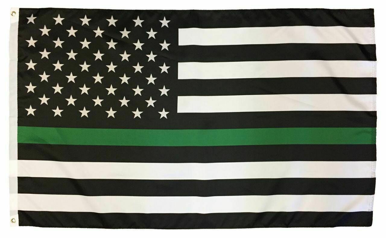 Thin Green line 3x5' Flag