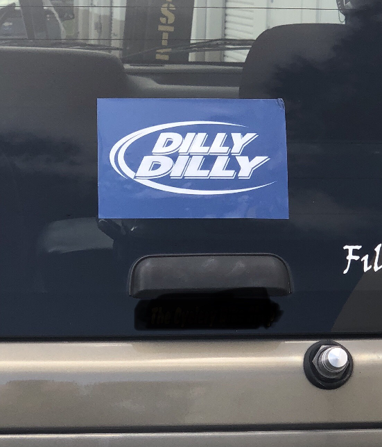 """Dilly Dilly 4x6"""" Sticker- FREE SHIPING"""