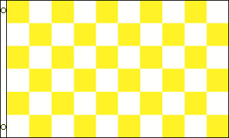 3'x5' Yellow and Black Checekerd Flag