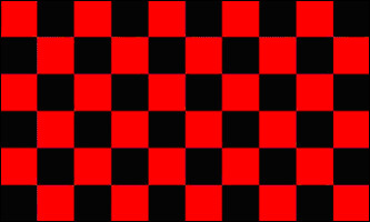 Checkered Flag - Black and Red