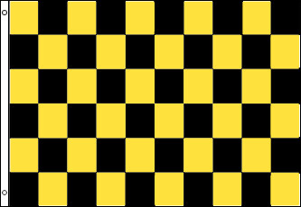 Checkered Flag - Black and Yellow