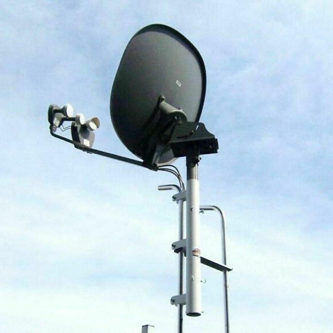 Ladder Mount for High Def. Satellite Dish