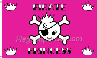 3' X 5' FLAG- PIRATE PRINCESS