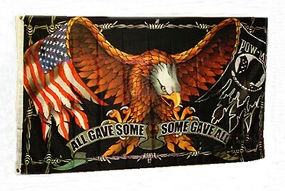All Gave Some-Some Gave All Eagle 3x5' Flag
