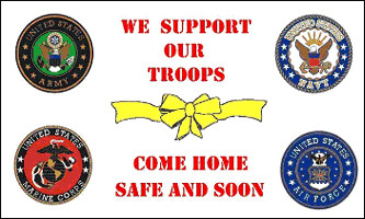 We Support our Troops Come Home Safe and Soon3x5' Flag