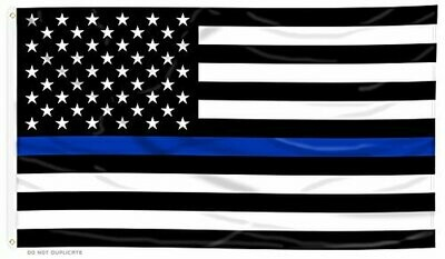 Thin Blue Line 3x5' Flag