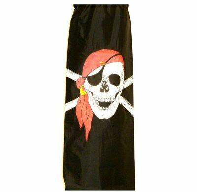 5' Skull and Cross Bones Windsock