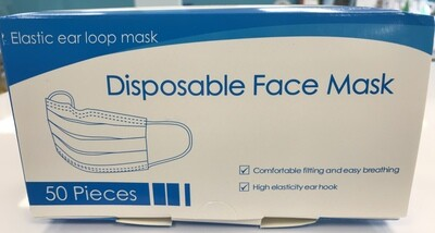 3 Ply Disposable Face Masks 50 masks