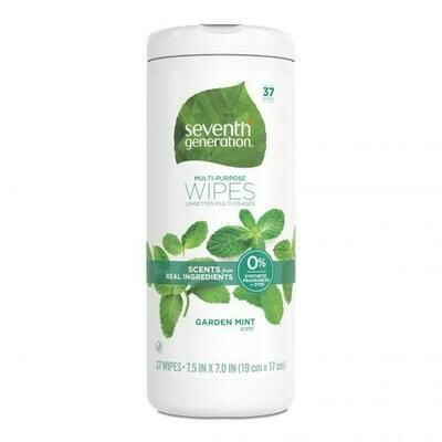 Seventh Generation Multi-Purpose Wipes, Garden Mint, 37 Wipes