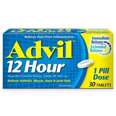 Advil 12 Hour Extended Release 600mg Tablets x 30