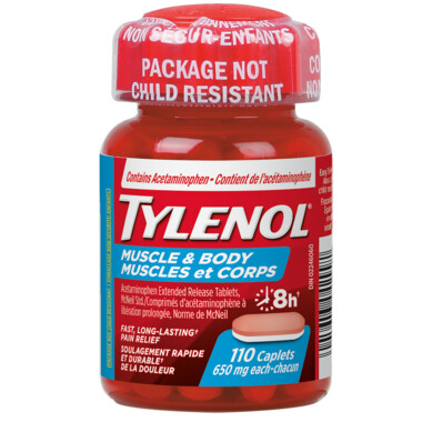 Tylenol Muscle Aches & Body Pain Caplets x110