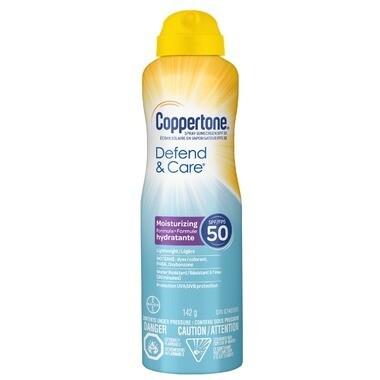 Coppertone Defend & Care Sunscreen Spray SPF 50