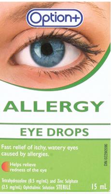 Option+ Allergy Eye Drops 15ML