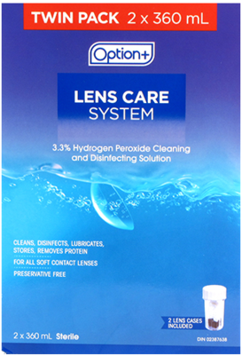 Option+ CONTACT LENS CARE SYSTEM 2X360ML