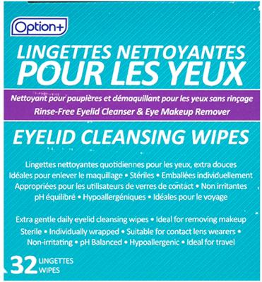 Option+ EYELID CLEANSING WIPES 32