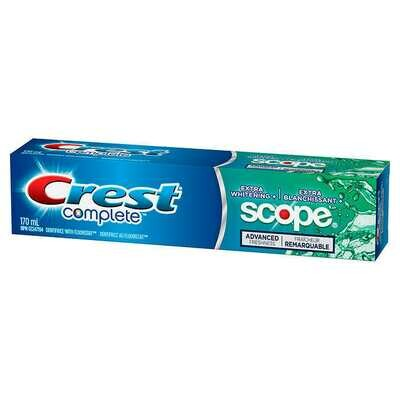 Crest Complete Extra Whitening + Scope Toothpaste 170ML