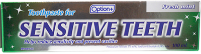Option+ TOOTHPASTE SENSITIVE FRESH MINT 100ML