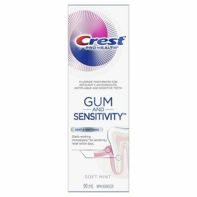 Crest Gum and Sensitivity, Sensitive Toothpaste Gentle Whitening 90ML