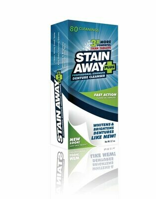 STAIN-AWAY PLUS Denture Cleanser Powder