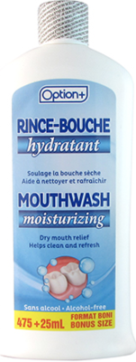 Option+MOISTURIZING MOUTHWASH ALCOHOL-FREE 475+25ML