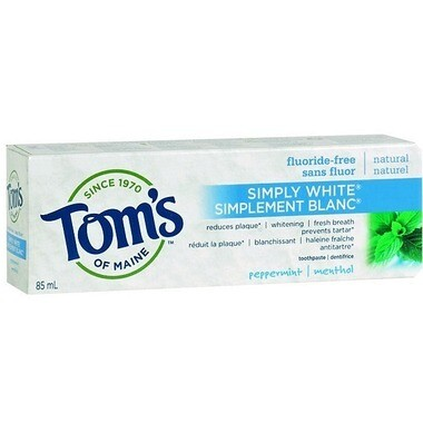 Tom's of Maine Simply White Fluoride-Free Plus Toothpaste 85ML