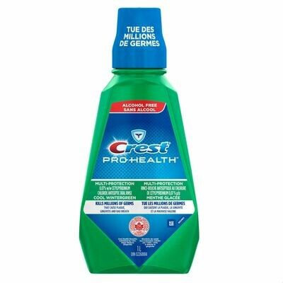 Crest Pro-Health Multi-Protection Antiseptic Cool Wintergreen Mouthwash 1L