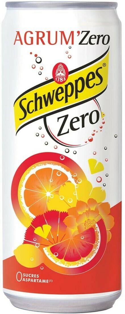 Schweppes Agrum' zero 33cl