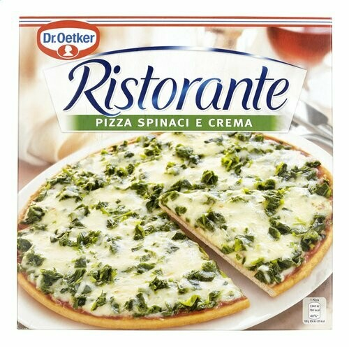 Pizza Spinaci e crema