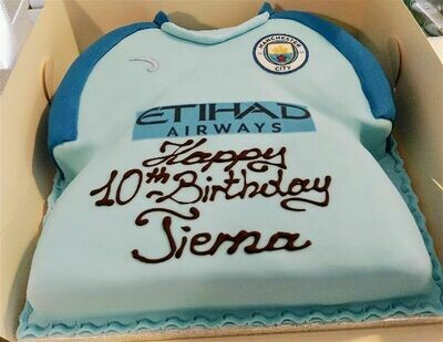 Man City Jersey Cake
