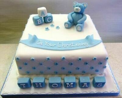 Thomas Christening Cake