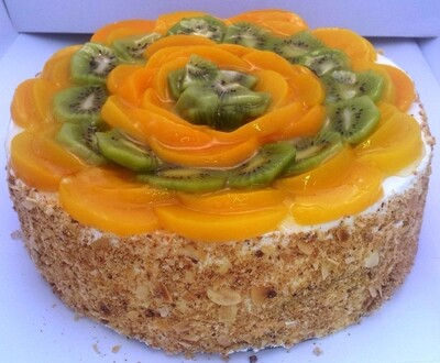Peach & Kiwi Gateau