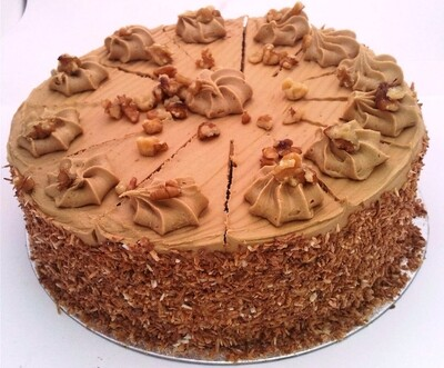 Coffee & Walnut Gateau