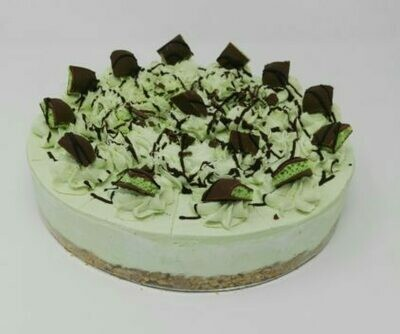 Mint Aero Style Cheesecake